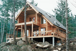 Cabin and Cottage Plan Rear Photo 03 - 080D-0004 | House Plans and More