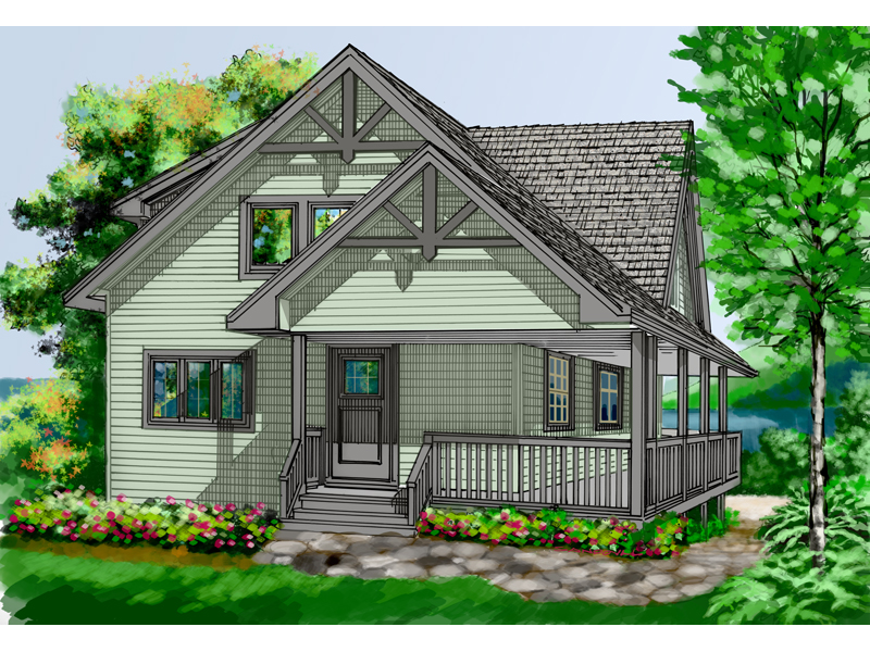 Vacation Home Plan Front Image - 080D-0007 | House Plans and More