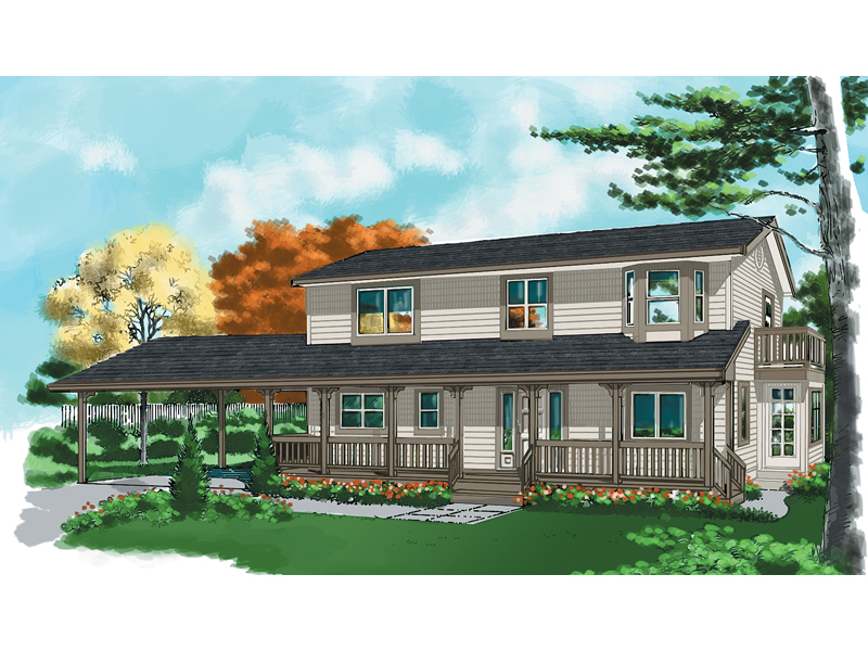 Country House Plan Front of Home - 080D-0010 | House Plans and More