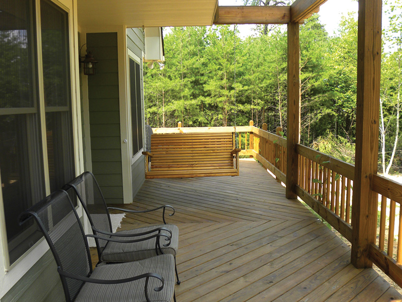 Ranch House Plan Deck Photo 02 - 080D-0012   House Plans and More