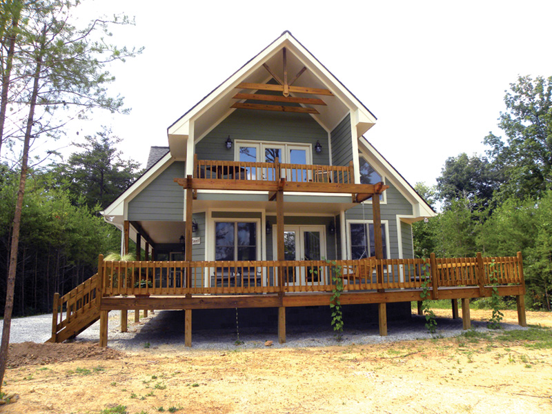 Ranch House Plan Rear Photo 02 - 080D-0012   House Plans and More