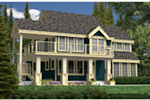 Rustic Home Plan Rear Photo 01 - 080D-0014 | House Plans and More