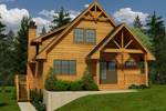 Rustic Home Plan Front of Home - 080D-0016 | House Plans and More