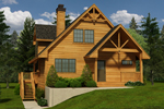 Waterfront Home Plan Front of Home - 080D-0017 | House Plans and More