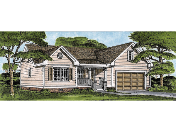Santosh traditional ranch home plan 081d 0011 house for Traditional ranch home plans