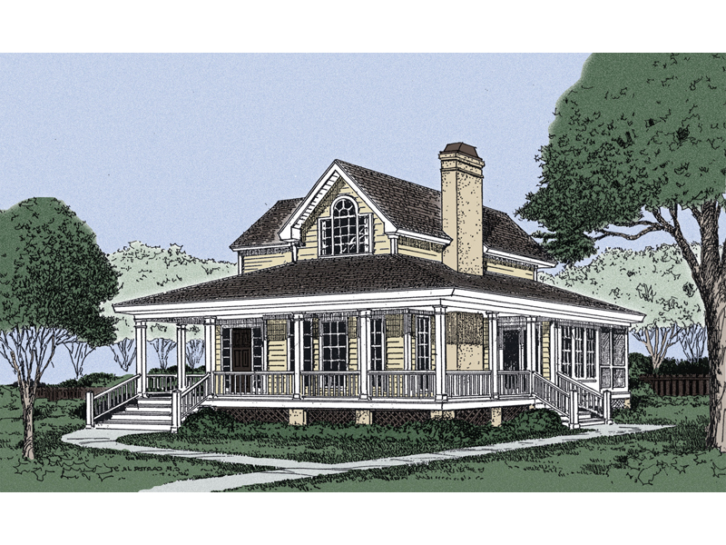 Farmhouse Plan Front Image - 081D-0021 | House Plans and More