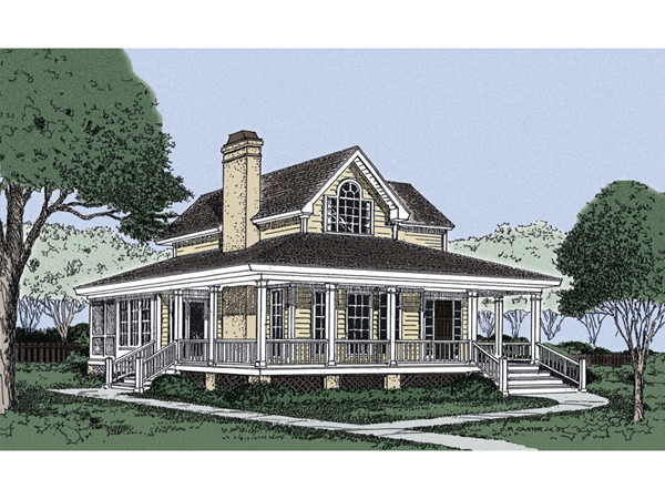 Patterson Park Country Farmhouse Plan 081D 0028 House