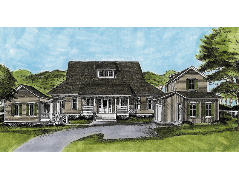 Korrigan country ranch home plan 081d 0061 house plans for Unique country house plans