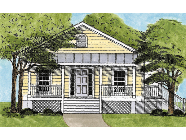 Windsor place cottage home plan 081d 0064 house plans for House plans with master on main