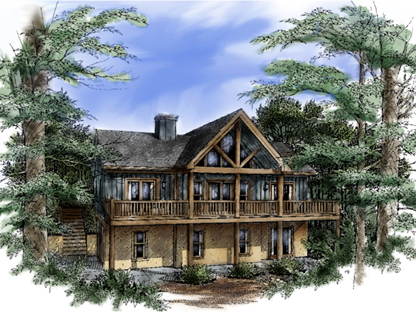 Keystone rustic home plan 082d 0001 house plans and more for Rustic house plans with walkout basement