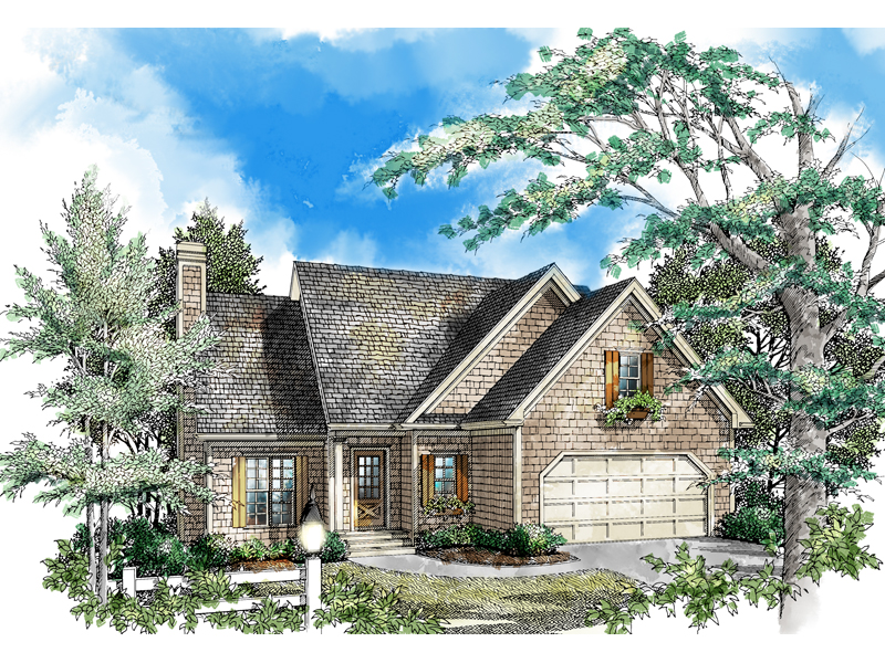 Shingle House Plan Front of Home - 082D-0006 | House Plans and More