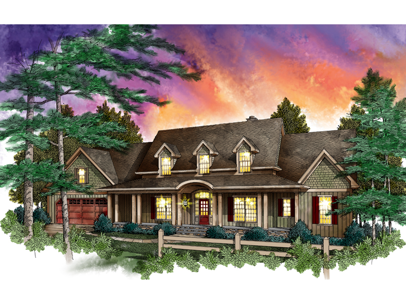 Rustic Country Style Two-Story Has Inviting Feel