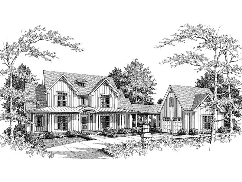 Luxury House Plan Front of Home - 082D-0024 | House Plans and More