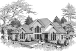 Two-Story Home With Amazing Arch-Top Windows And Quoins