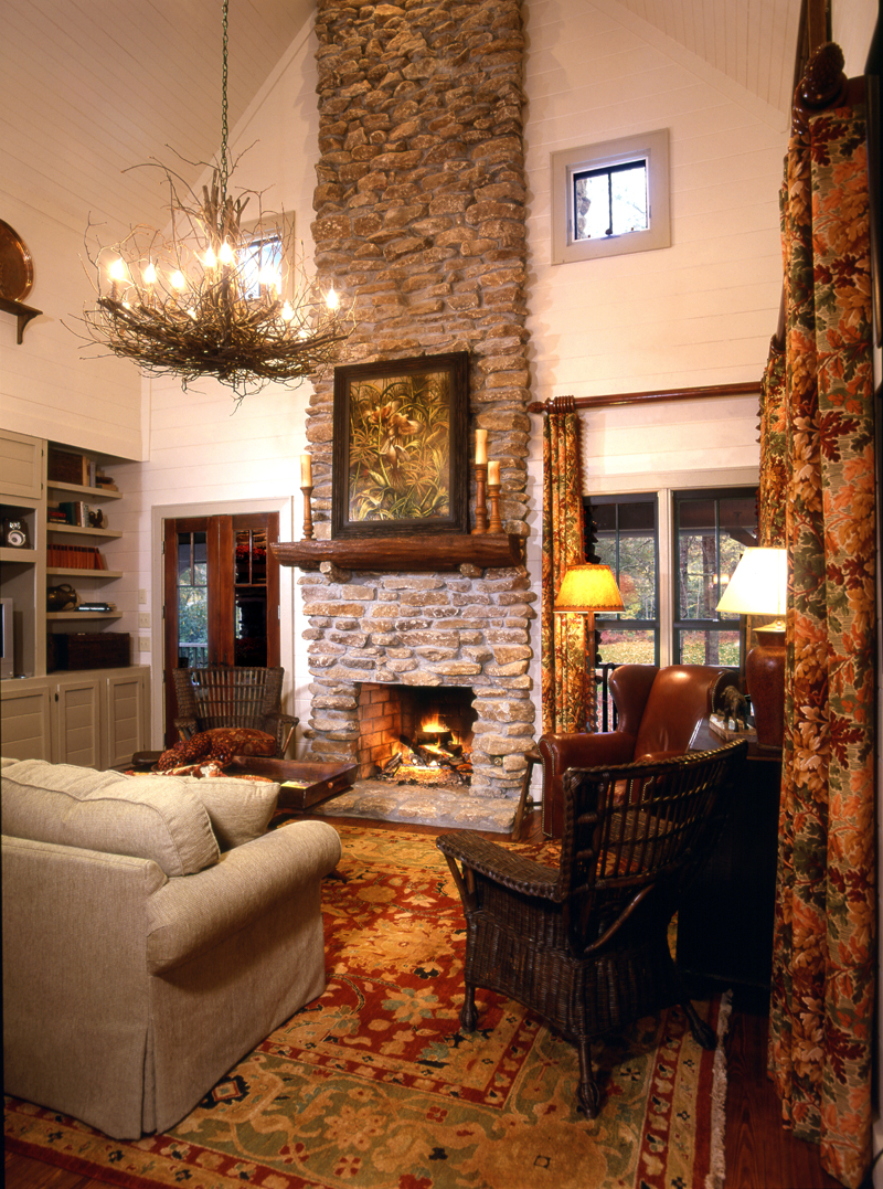 Cabin and Cottage Plan Fireplace Photo 01 - 082D-0065 | House Plans and More