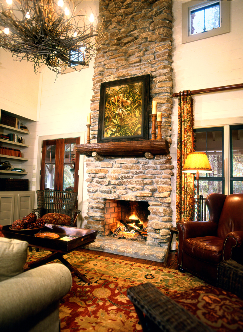 Cabin and Cottage Plan Fireplace Photo 02 082D-0065
