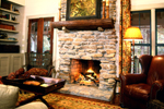 Cabin and Cottage Plan Fireplace Photo 02 - 082D-0065 | House Plans and More