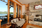Waterfront Home Plan Fireplace Photo 01 - 082S-0001 | House Plans and More