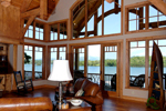 Waterfront Home Plan Great Room Photo 01 - 082S-0001 | House Plans and More