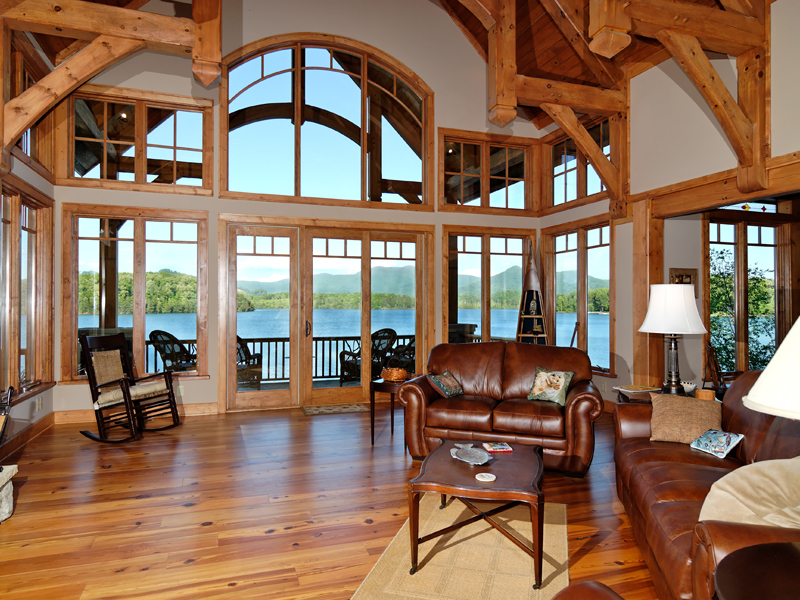 Mountain Home Plan Living Room Photo 01 082S-0001