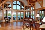 Waterfront House Plan Living Room Photo 01 - 082S-0001 | House Plans and More