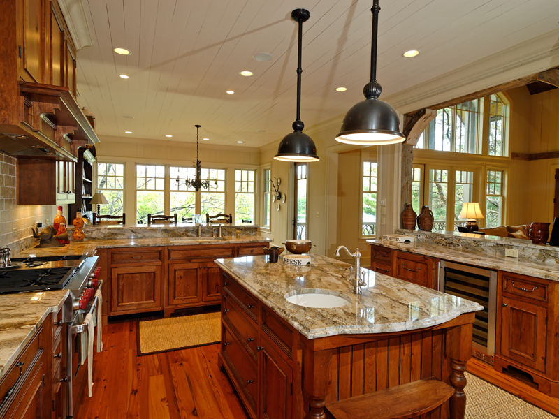 Rustic Home Plan Kitchen Photo 01 - 082S-0002 | House Plans and More