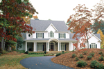 Farmhouse Plan Front of Home - 082S-0003 | House Plans and More