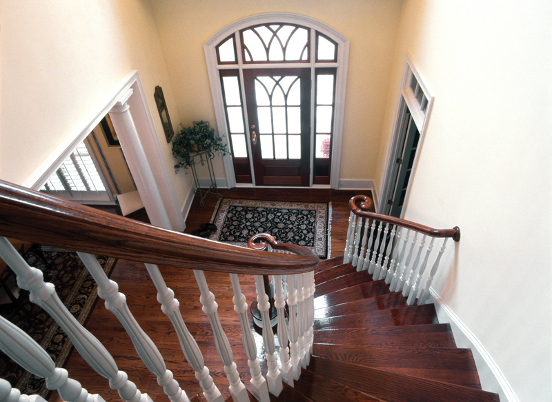 Country french house plan stairs photo 01 plan 082s 0003 for House plans with stairs in foyer