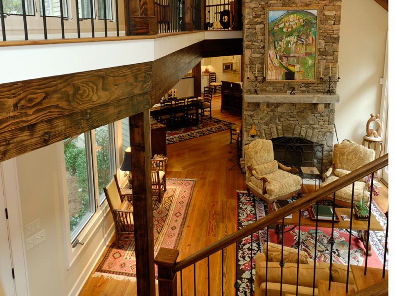 Rustic Home Plan Stairs Photo 082S-0004