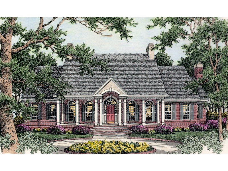 Whittington plantation home plan 084d 0001 house plans for Symmetrical house plans