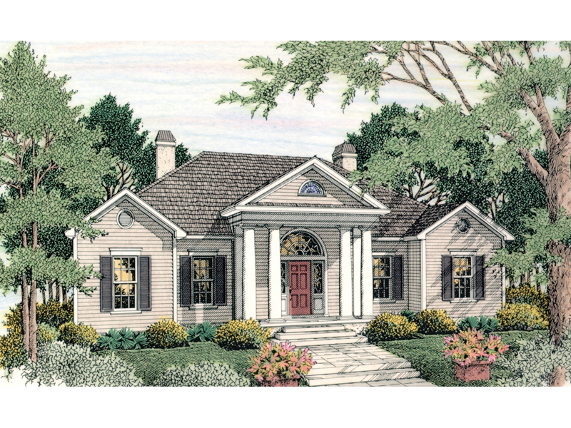 Canalou Colonial Ranch Home Plan 084d 0015 House Plans