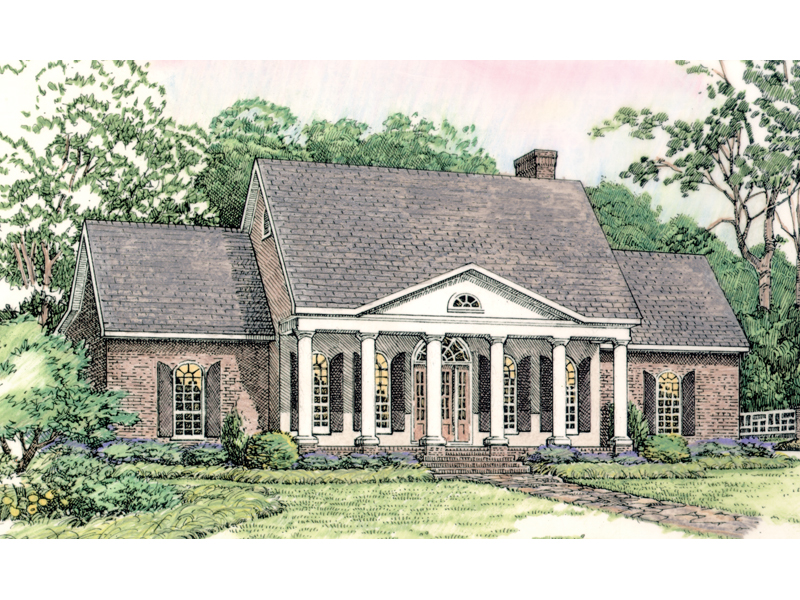Southern colonial ranch house plans house design plans for Southern colonial house plans