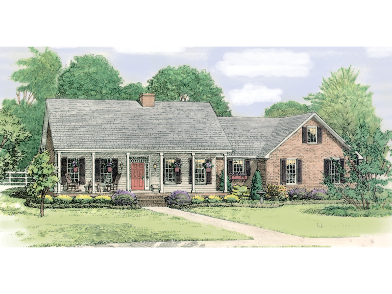 Paducah Country Ranch Home Plan 084D 0020 House Plans
