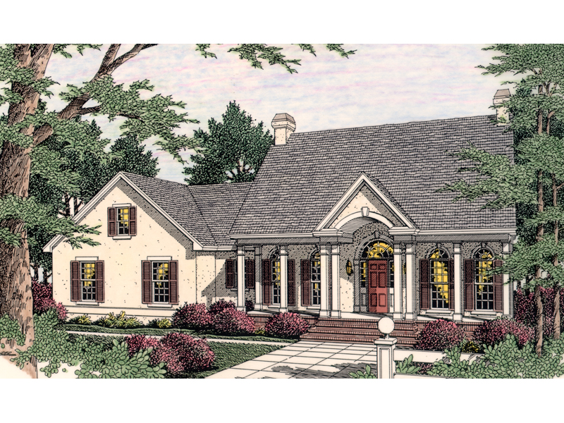 17 decorative colonial ranch house plans architecture