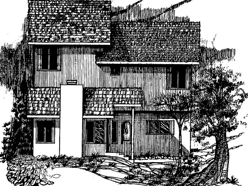 Barrhead Rustic Mountain Home Plan 085D 0021 House Plans