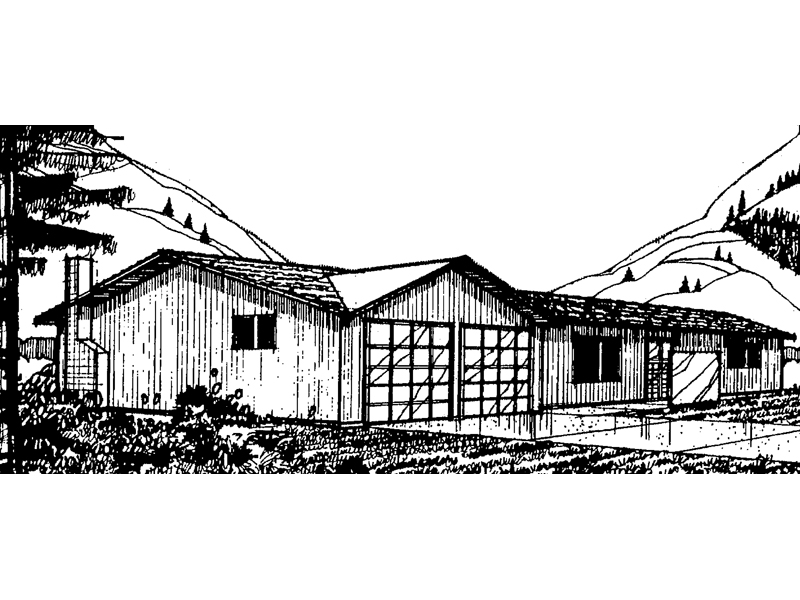 Mountain Home Plan Front of Home - 085D-0024 | House Plans and More