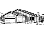 Pure Country Home Designed For Narrow Lot