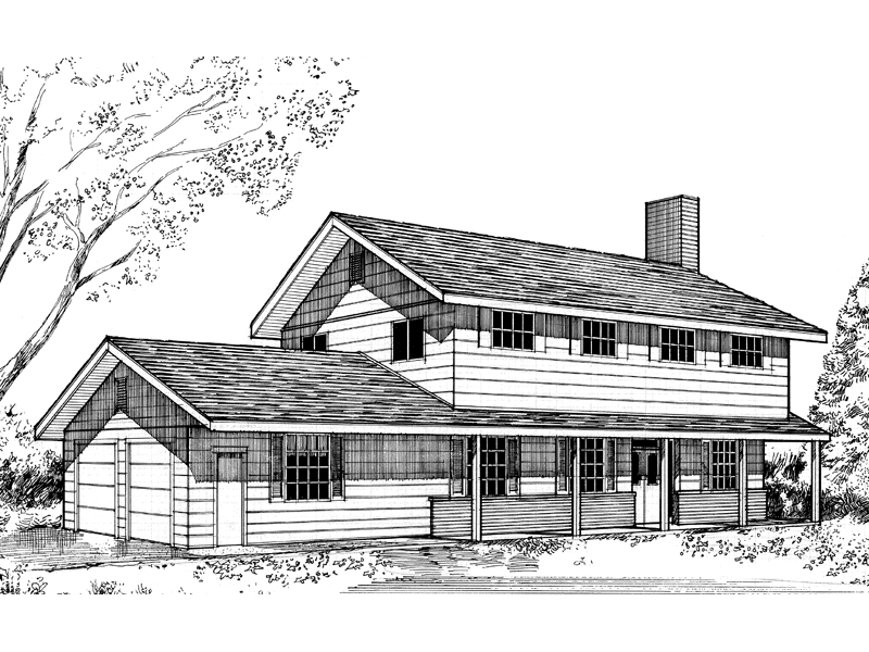 Country House Plan Front of Home - 085D-0142 | House Plans and More
