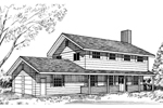 Contemporary House Plan Front of Home - 085D-0142 | House Plans and More