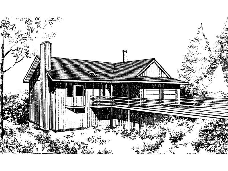 Mountain Home Plan Front of Home - 085D-0143 | House Plans and More