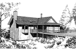 Ranch House Plan Front of Home - 085D-0143 | House Plans and More