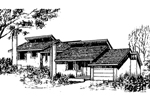Ranch House Plan Front of Home - 085D-0146 | House Plans and More
