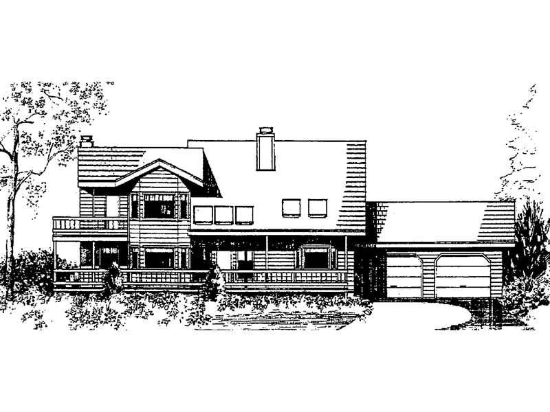 Country House Plan Front of Home - 085D-0147 | House Plans and More