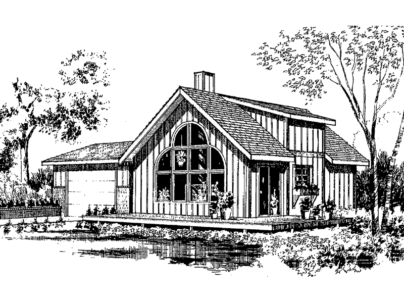 Vacation House Plan Front of Home - 085D-0148 | House Plans and More