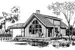 Cabin and Cottage Plan Front of Home - 085D-0148 | House Plans and More