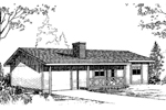 Vacation Home Plan Front of Home - 085D-0150 | House Plans and More