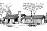 Ranch House Plan Front of Home - 085D-0152 | House Plans and More