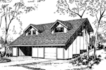 Cabin and Cottage Plan Front of Home - 085D-0153 | House Plans and More