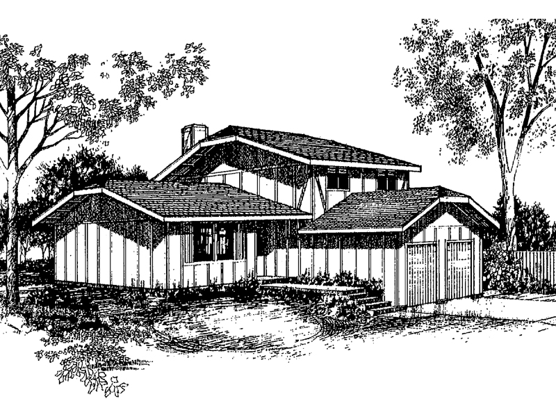 Traditional House Plan Front of Home - 085D-0154 | House Plans and More