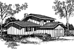 Contemporary House Plan Front of Home - 085D-0154 | House Plans and More